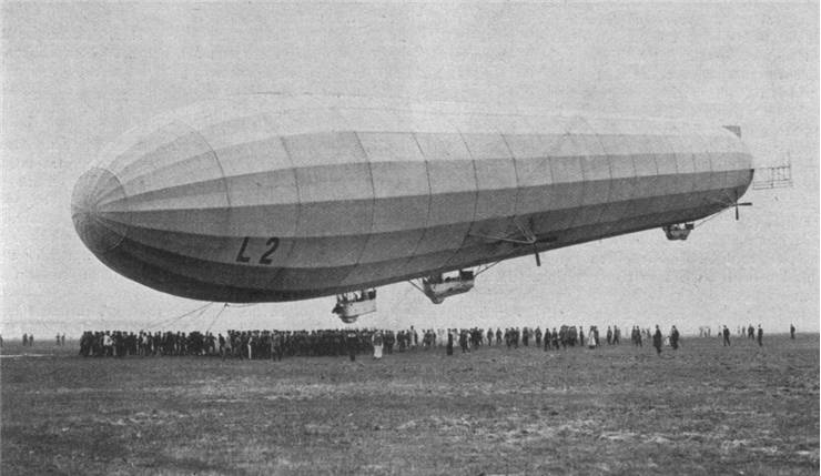 Picture of German Zeppelin LZ-18 L-2 at Berlin Johannistal