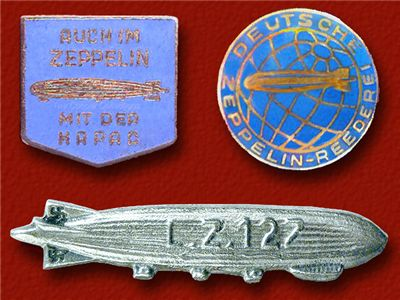Picture of LZ 127 Graf Zeppelin Promotional Passanger Label Pins