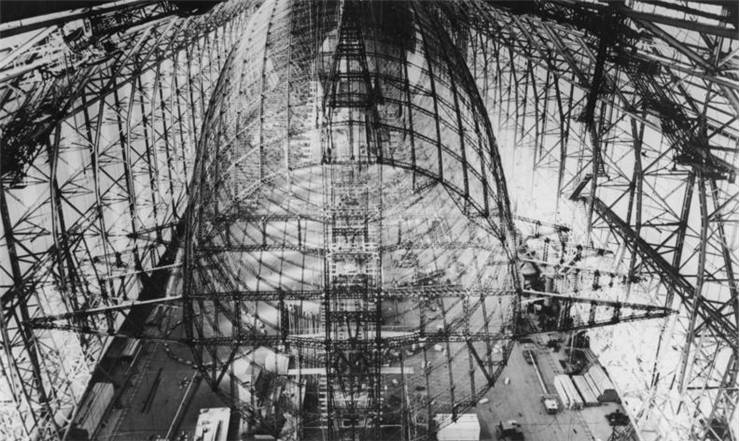 Picture of Zeppelin Hindenburg under construction