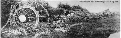 Picture of Zeppelin LZ 4  after Echterdingen Disaster